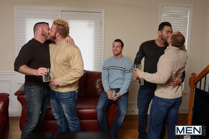 My 2 Daddies (Aaron Bruiser, Charlie Harding, John Magnum, Luke Adams & Rikk York) (Part 3) at JizzOrgy