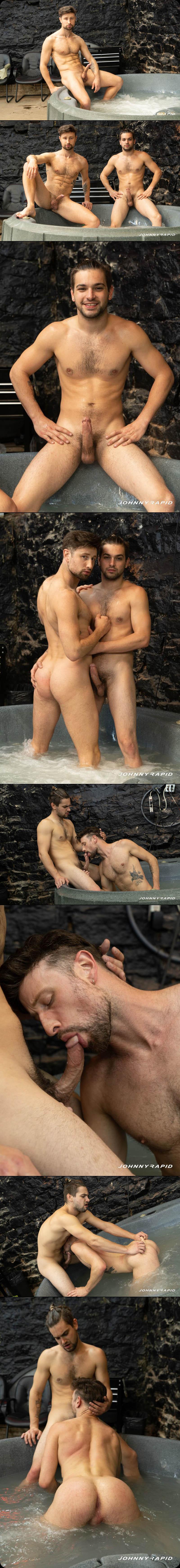 Johnny Rapid Fucks Drew Dixon in 'Hot Tub Humping' at JohnnyRapid.com