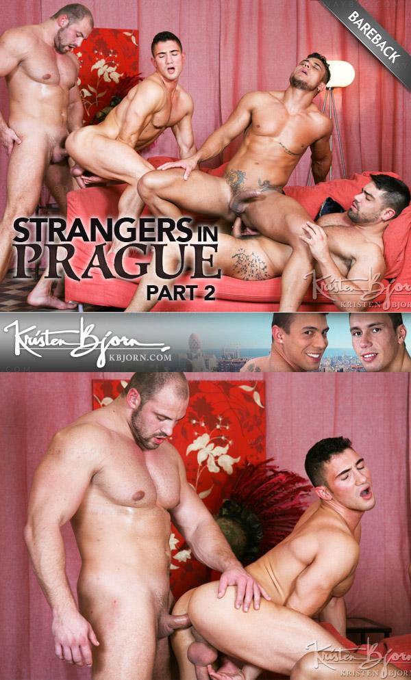 Strangers in Prague 2 (Wagner Vittoria, Diego Lauzen, Marco Rubi & Tomas Friedel) (Scene 5) (Bareback) at KristenBjorn