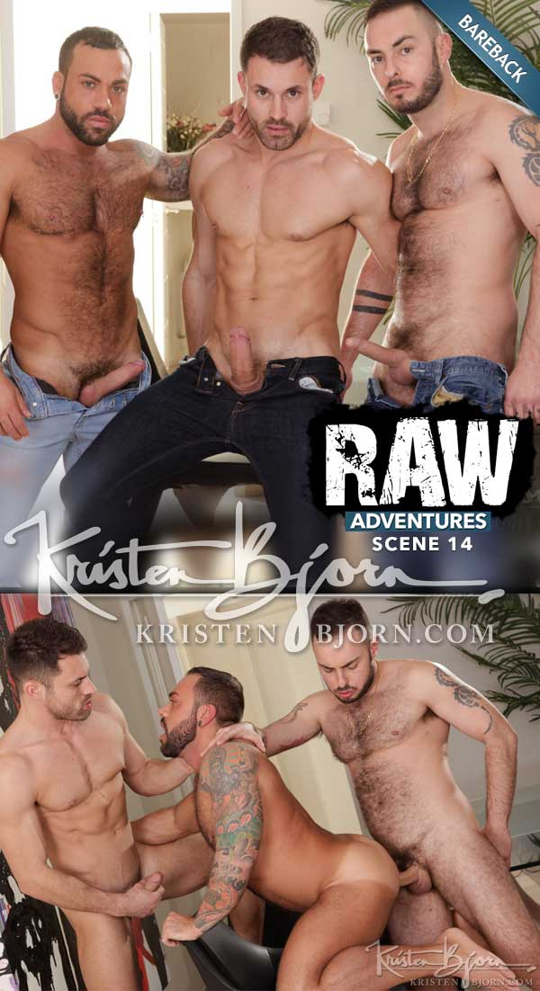 Raw Adventures: Jet Sex (James Castle, Sergi Rodriguez and Macanao Torres) (Scene 14) at KristenBjorn