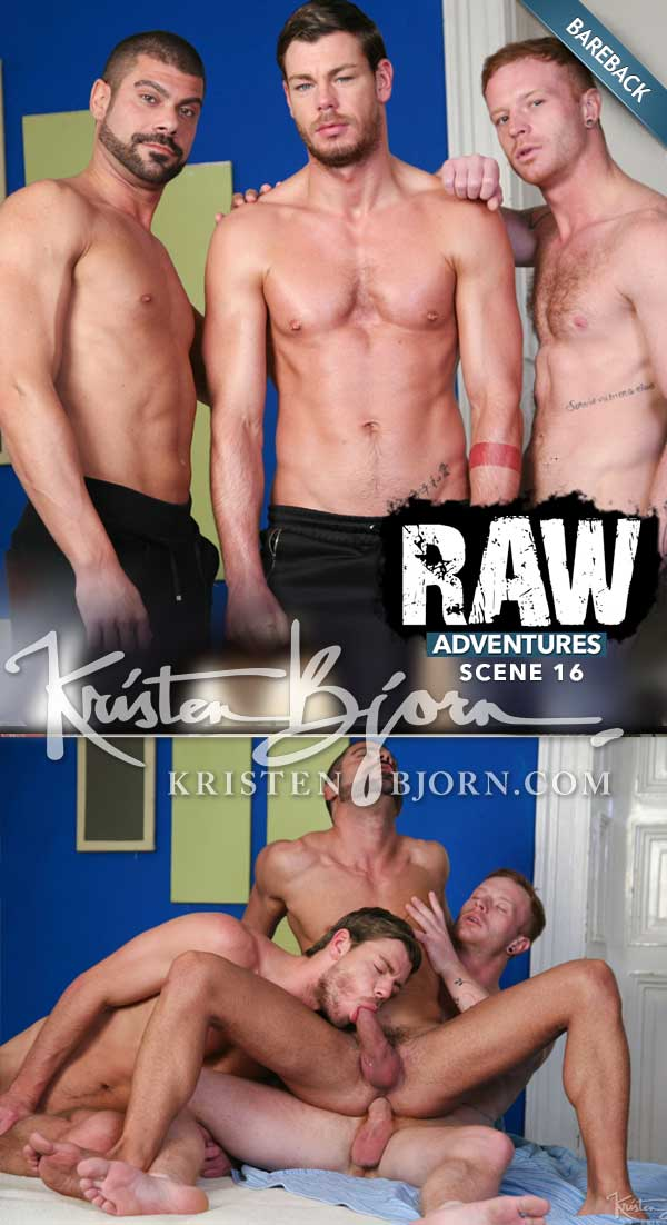 Raw Adventures: Hot Winter (Arnau Vila, Toby Dutch & Tom Vojak) (Scene 16) at KristenBjorn