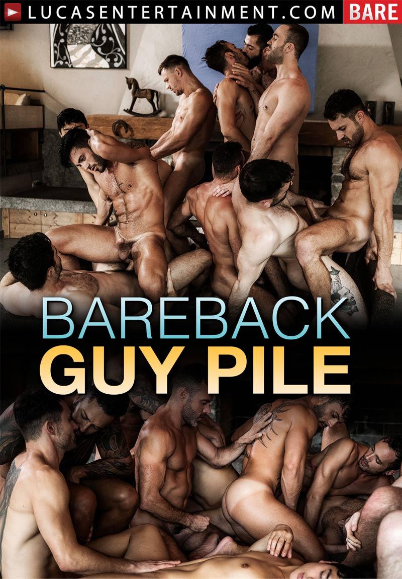 Bareback Guy Pile, Scene One (James Castle, Jackson Radiz and Dakota Payne) at Lucas Entertainment