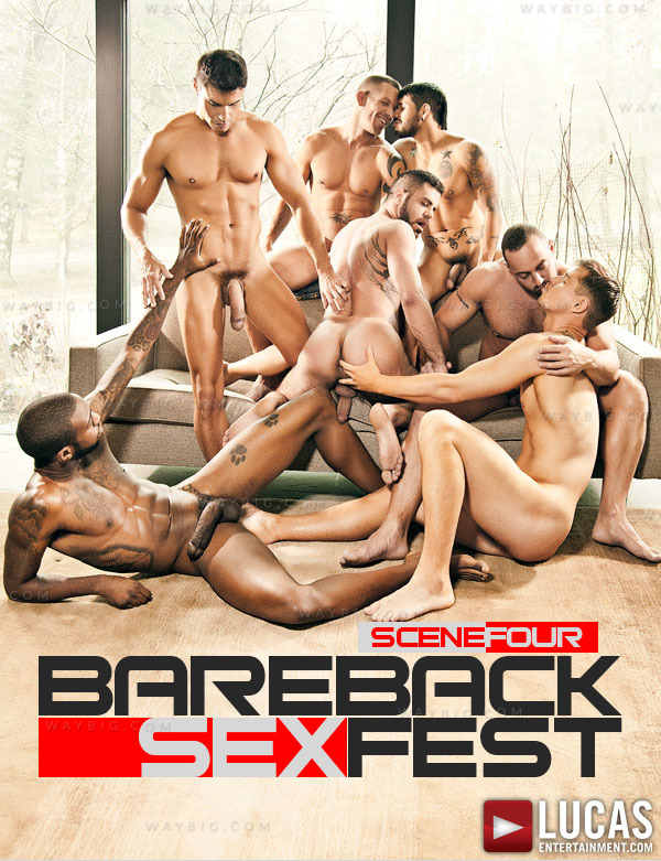 Bareback Sex Fest (Draven Torres, Shane Frost, Marcus Isaacs, Rafael Carreras, Hot Rod & Fabio Stallone) (Finale) at LucasEntertainment.com