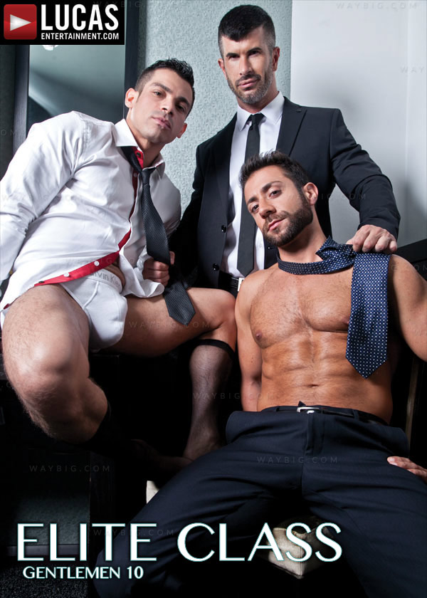 Gentlemen 10: Elite Class (Adam Killian, Fernando Torres & Valentino Medici) (Scene 3) at LucasEntertainment.com
