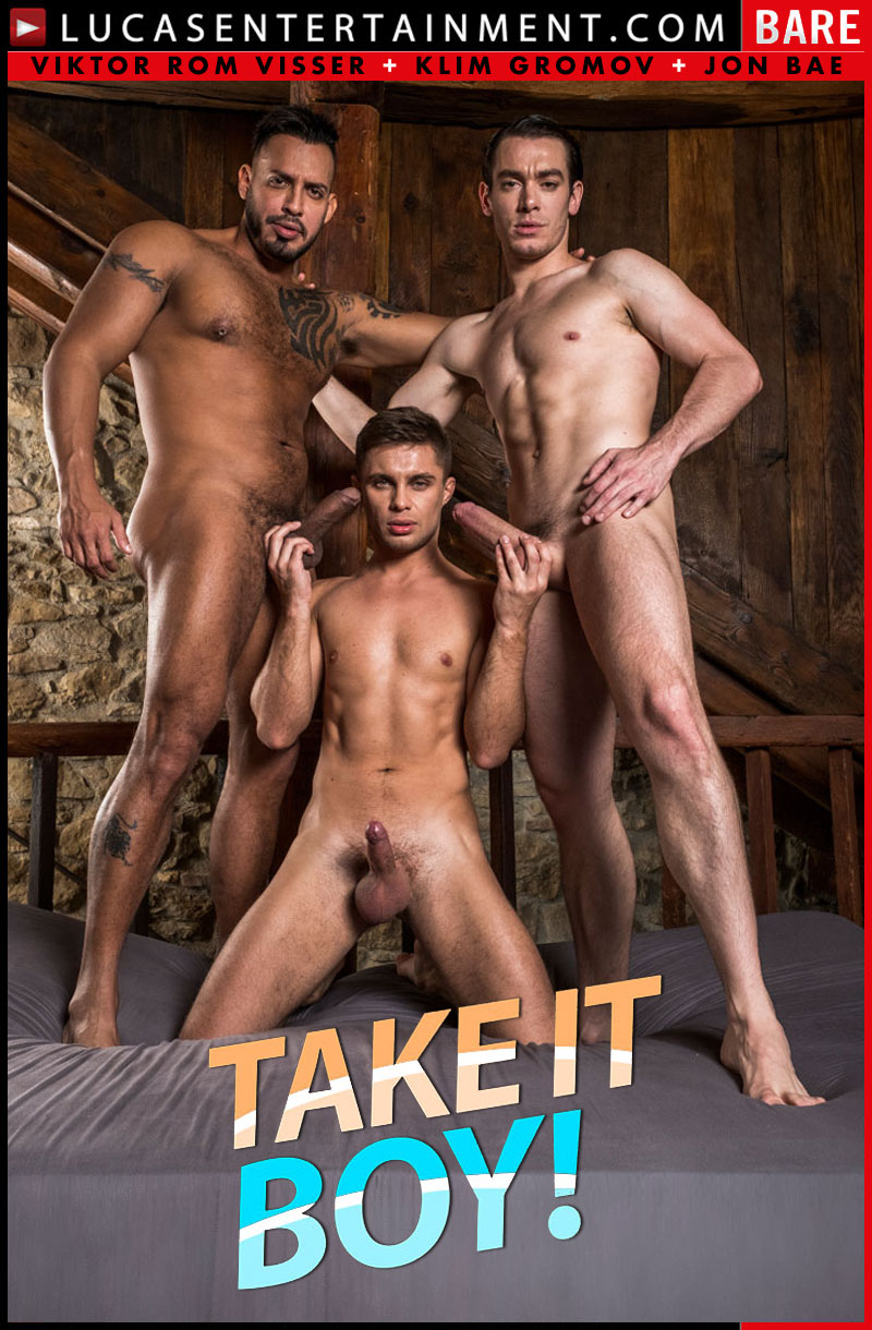 Take It Boy!, Scene 4 (Viktor Rom Fucks His Boys, Klim Gromov and Jon Bae) (Bareback) at Lucas Entertainment