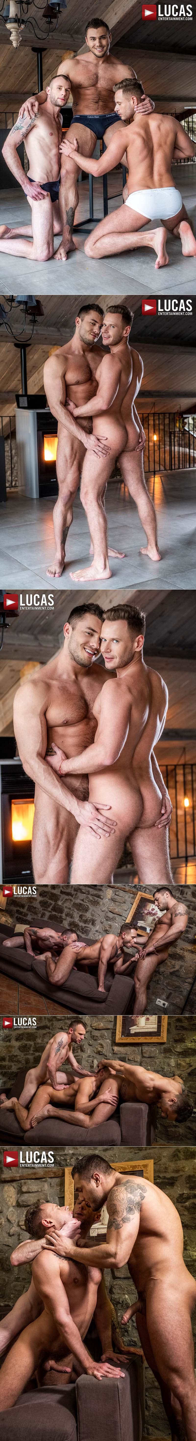 Double The Raw Dick, Scene Three (Brock Magnus And Guillaume Wayne Fuck Yuri Orlov) at Lucas Entertainment