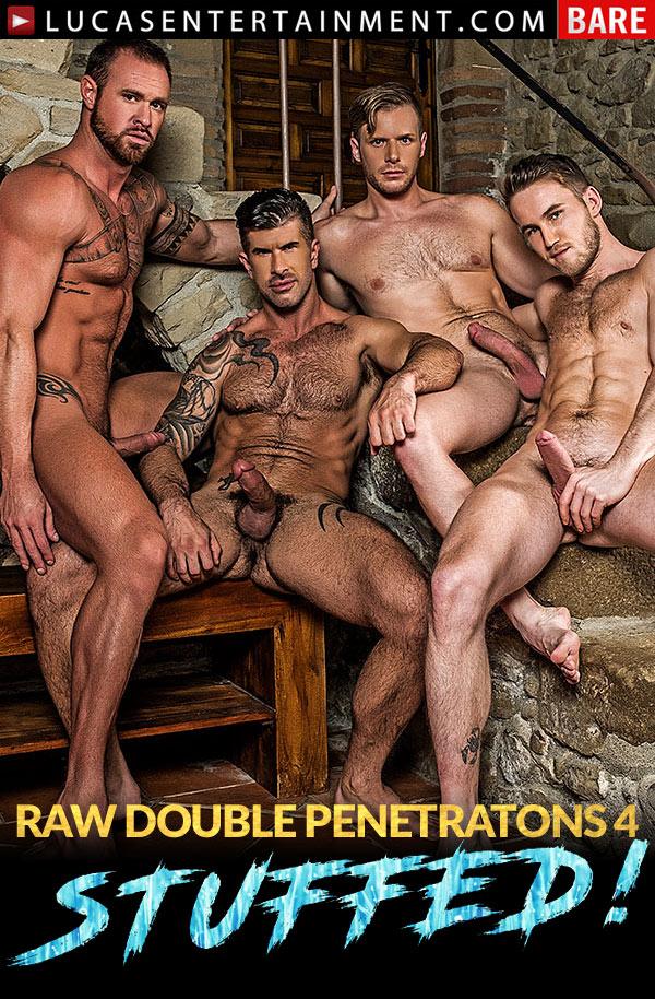 Raw Double Penetrations 04: Stuffed (Adam Killian, Marq Daniels, Brian Bonds and Michael Roman) (Scene 3) at LucasEntertainment