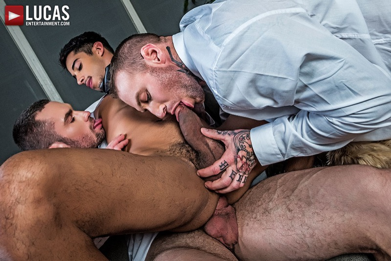 Gentlemen 19: Hard At Work (Drae Axtell's Corporate Threesome w/ Dylan James and Stas Landon) (Scene 1) at Lucas Entertainment