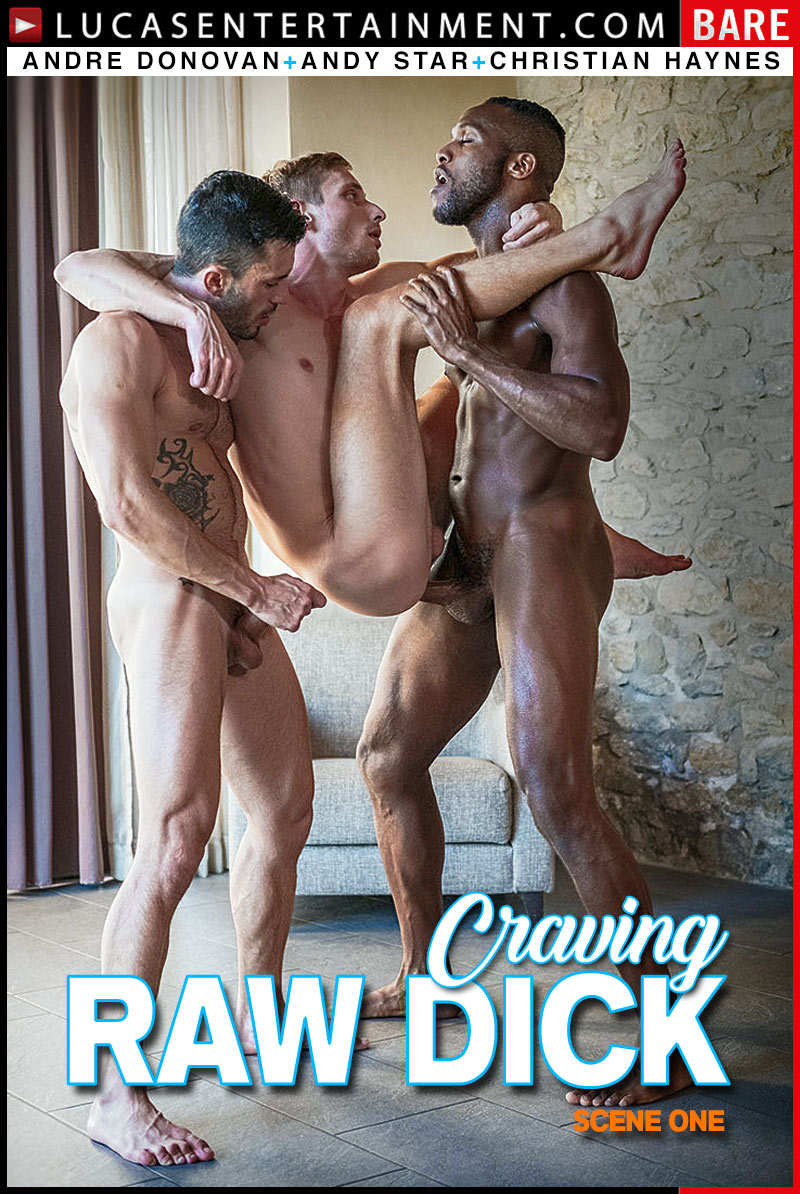 Craving Raw Dicks, Scene 1 (Andy Star and Christian Haynes Get Fucked By Andre Donovan's Big Cock) at Lucas Entertainment