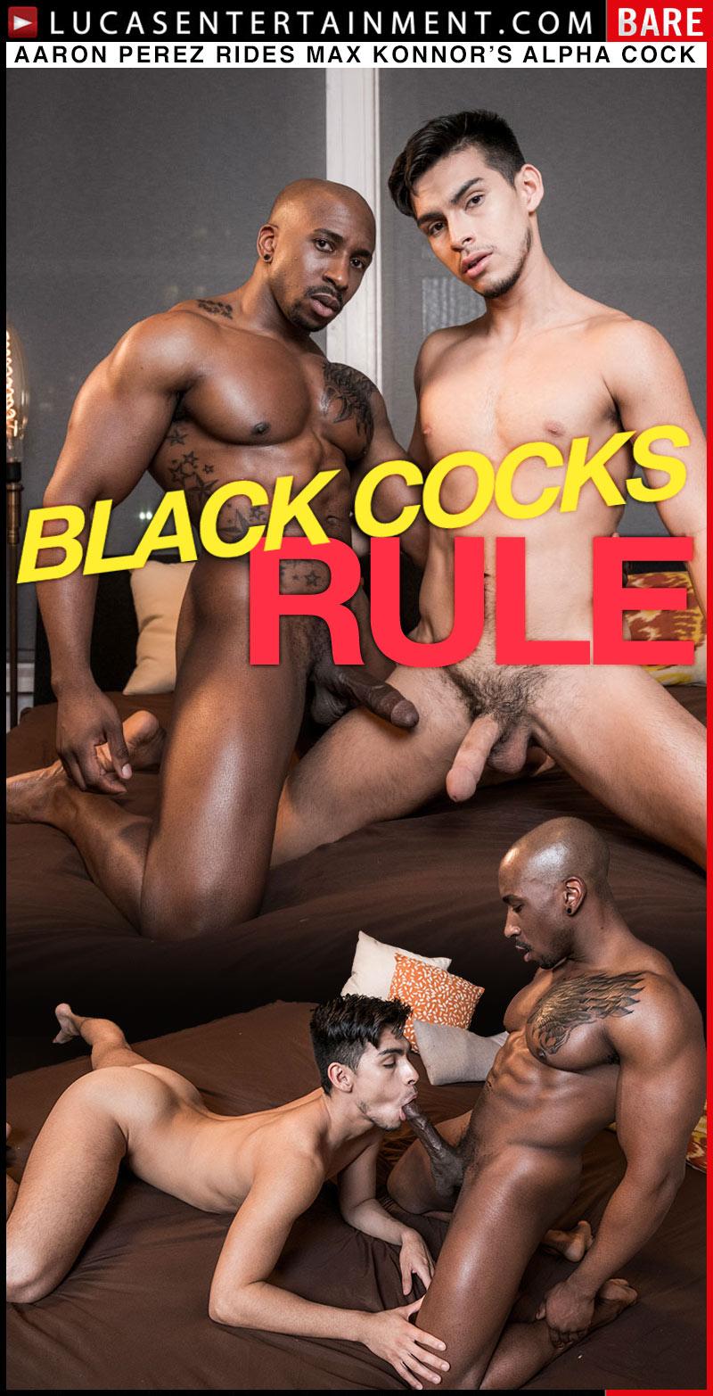 BLACK COCKS RULE, Scene 4 (Max Konnor Fucks Aaron Perez) at Lucas Entertainment