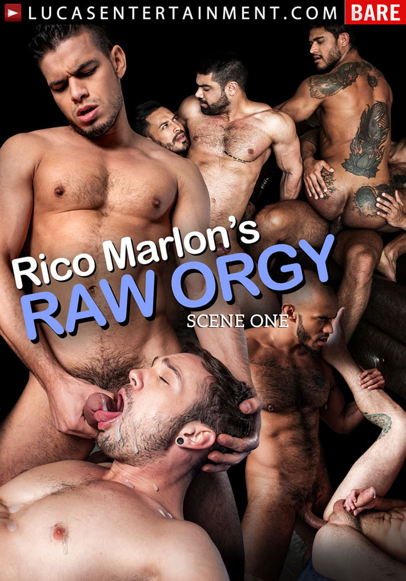 Rico Marlon's Raw Orgy, Scene 1 (Sergeant Miles and Brock Magnus Spit-Roast Ken Summers) at Lucas Entertainment