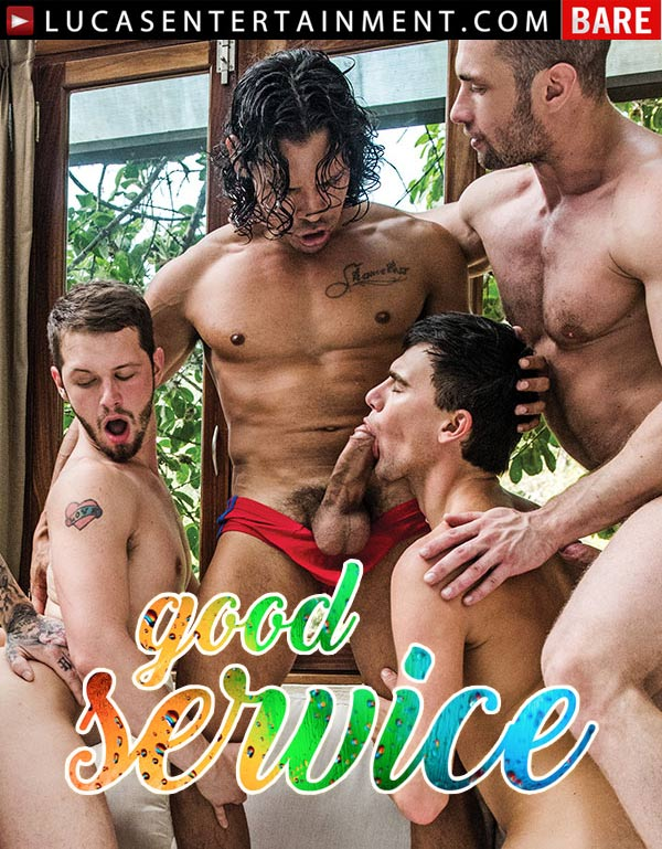 Good Service (Seven-Man Orgy Feat. Dylan James, Alejandro Castillo & Drae Axtell) (Scene 3) at LucasEntertainment