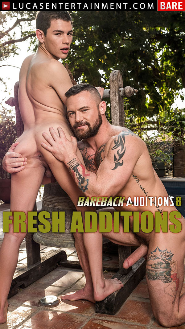 Bareback Auditions 8: Fresh Additions (Sergeant Miles Seeds Ricky Verez's Fuck-Hole) (Scene 4) at LucasEntertainment