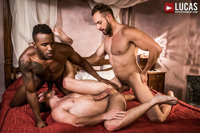 Cum Hungry Butt Sluts (Mario Galeno Barebacks Devin Franco And Pheonix Fellington) (Scene 3) at Lucas Entertainment