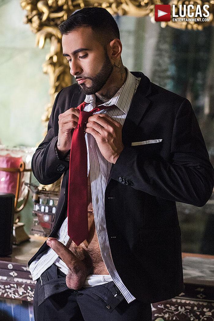 Drae Axtell Fucks Rikk York Bareback in 'Scruff In Suits' at LucasEntertainment