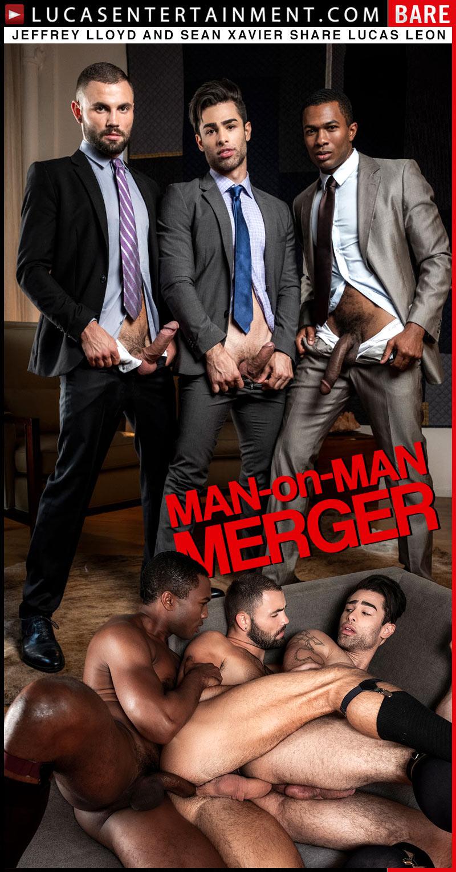 Gentlemen 24: Man-On-Man Merger, Scene Three (Jeffrey Lloyd and Sean Xavier Share Lucas Leon) at LucasEntertainment