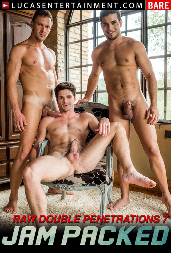 Raw Double-Penetrations 7: Jam Packed (Andrey Vic, Devin Franco and Rico Marlon) (Scene 3) at Lucas Entertainment
