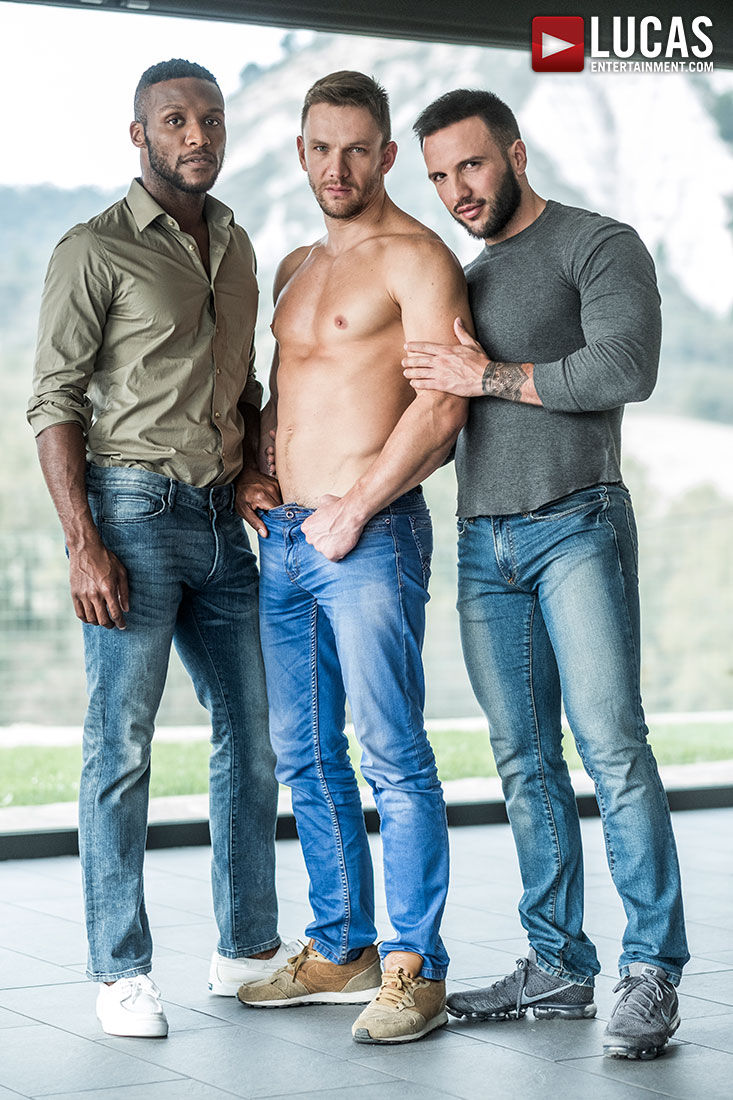 Donato Reyes' Bareback Premiere (with Andre Donovan and Andrey Vic) at Lucas Entertainment
