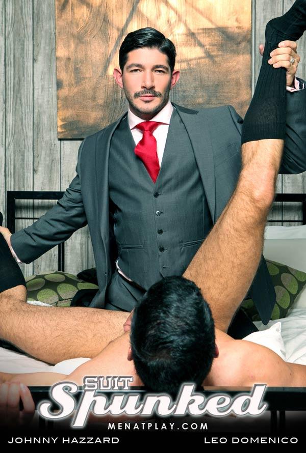 Suit Spunked (Starring Johnny Hazzard & Leo Domenico) on MenAtPlay