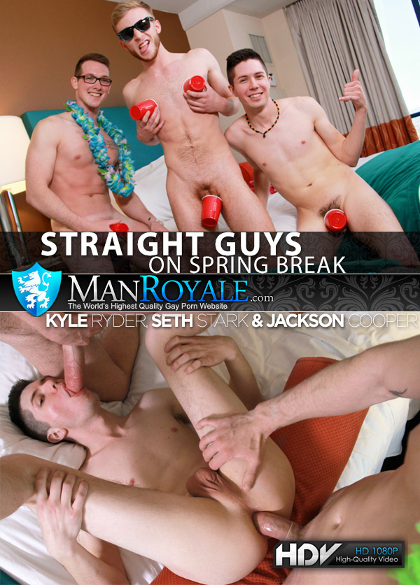 Straight Guys on Spring Break (Kyle Ryder, Seth Stark & Jackson Cooper) at ManRoyale