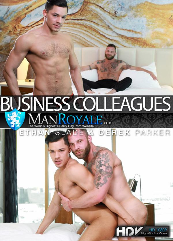Business Colleagues (Derek Parker Fucks Ethan Slade) at ManRoyale