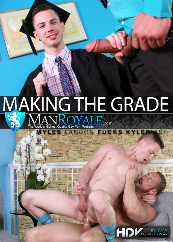 Making The Grade (Myles Landon Fucks Kyler Ash) at ManRoyale
