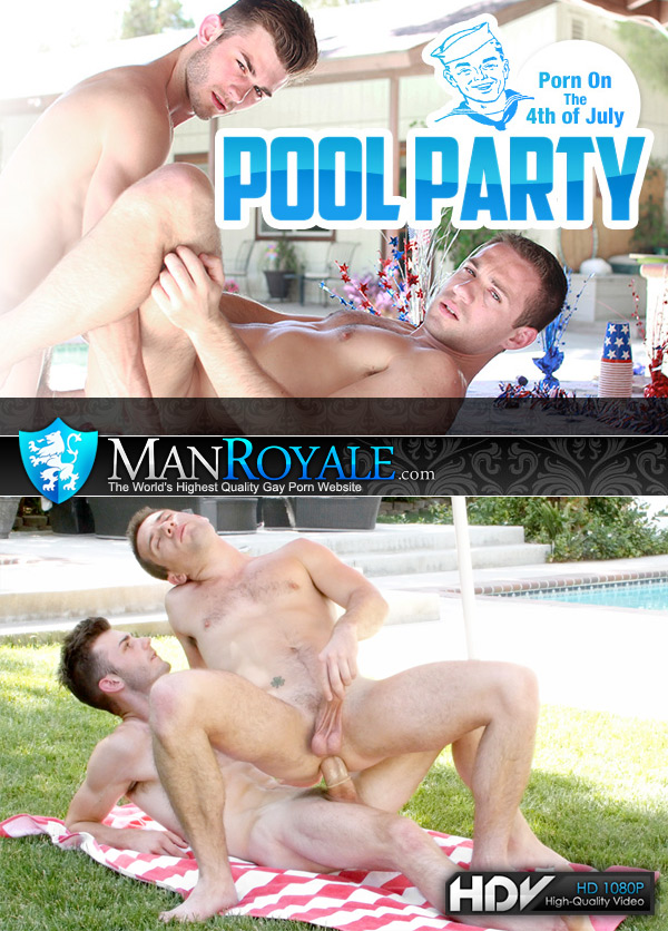 Fourth of July Pool Party (Vincent James Fucks Dylan Knight) at ManRoyale