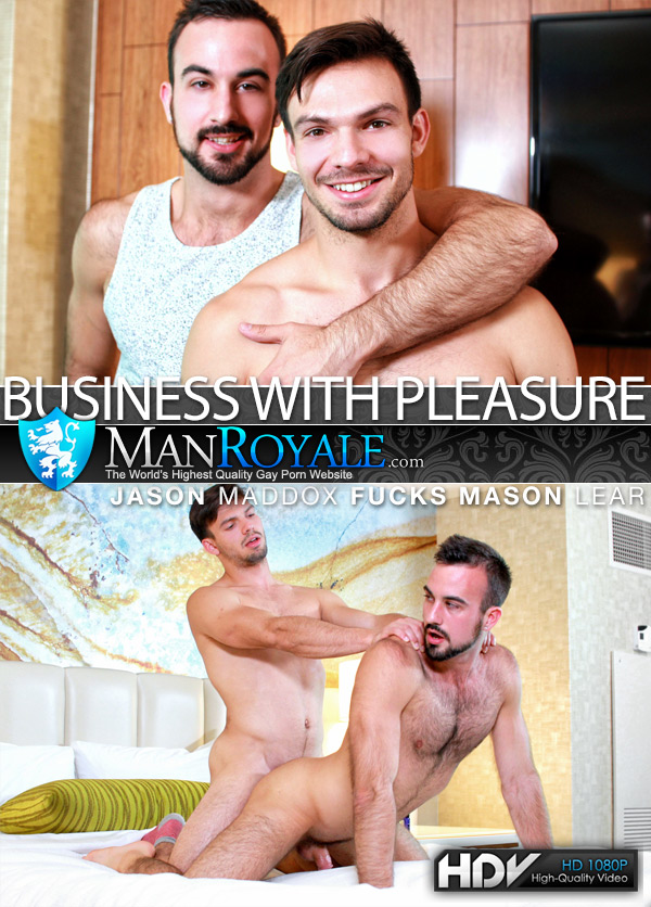 Business With Pleasure (Jason Maddox Fucks Mason Lear) at ManRoyale