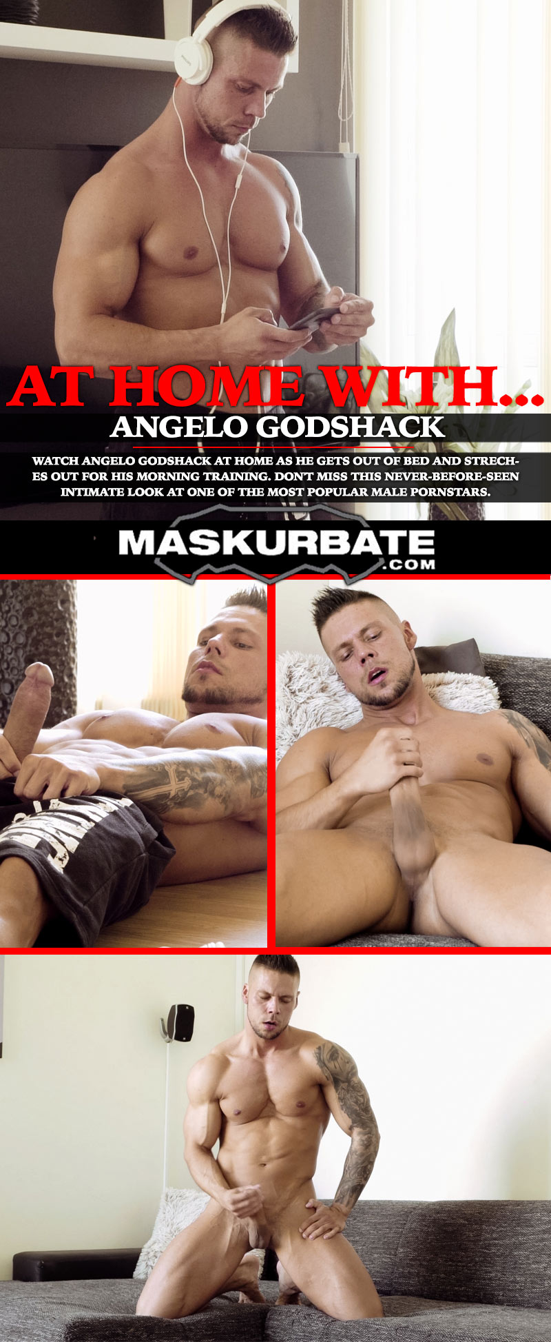 At Home With Angelo Godshack at Maskurbate