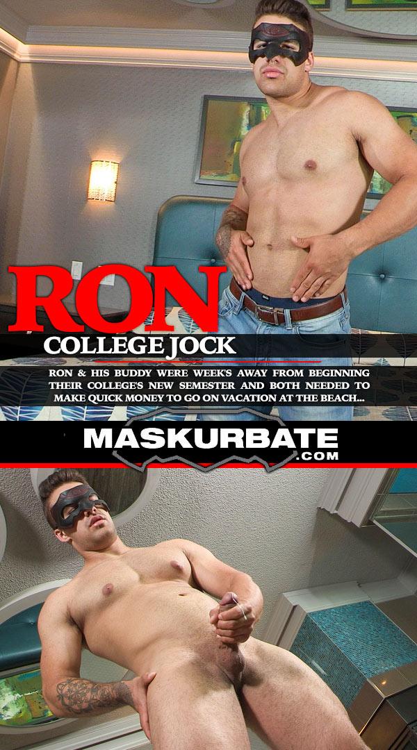 College Jock Ron at Maskurbate