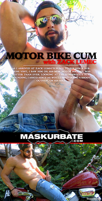 Motor Bike Cum (with Zack Lemec) at Maskurbate