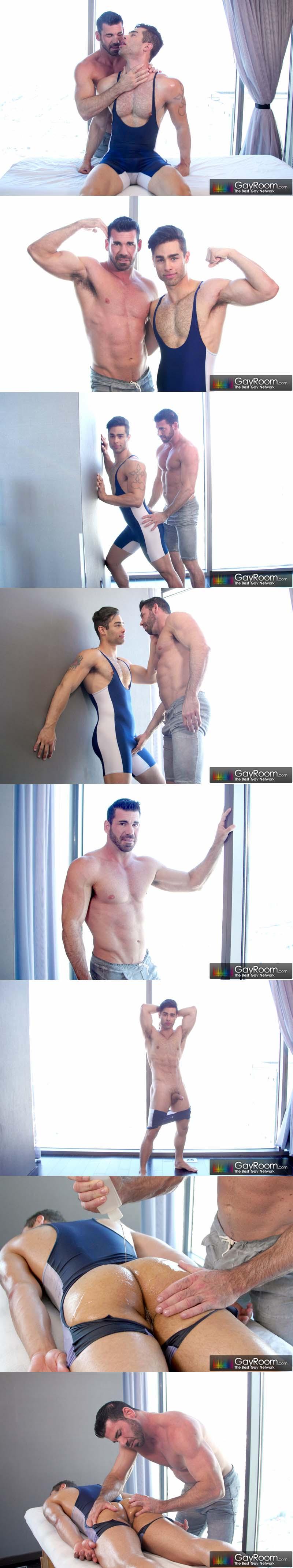 Lubed Jock (Billy Santoro Fucks Lucan Leon) at GayRoom