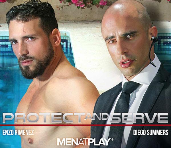 Protect & Serve (Diego Summers Fucks Enzo Rimenez) on MenAtPlay