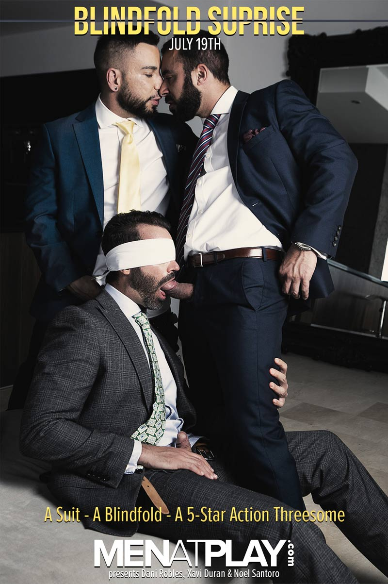 BLINDFOLD SURPRISE (Dani Robles, Xavi Duran and Noel Santoro) on MenAtPlay