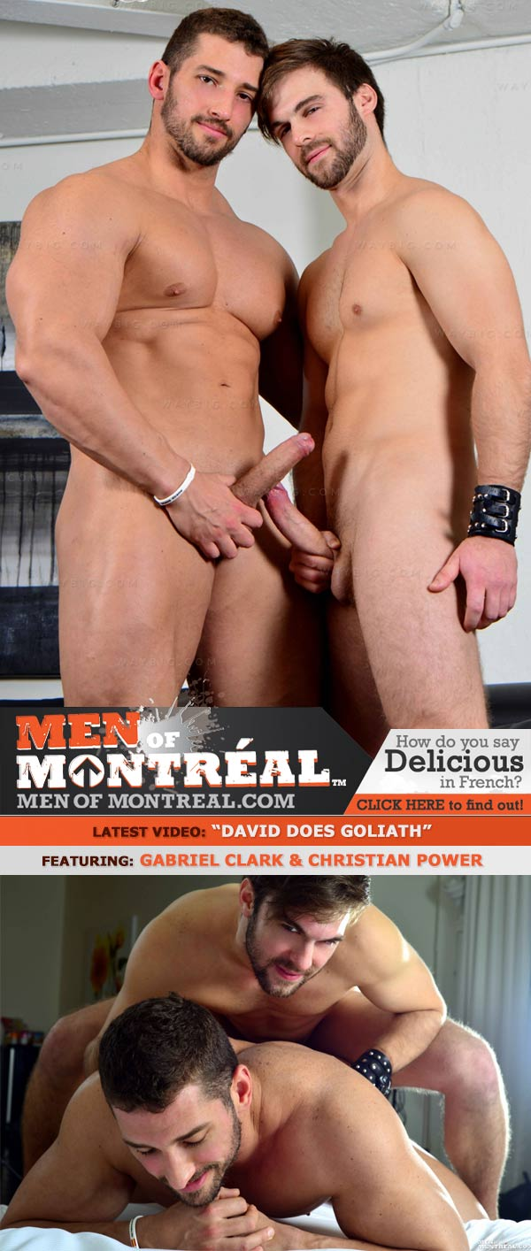 David Does Goliath (Gabriel Clark & Christian Power) at MenOfMontreal