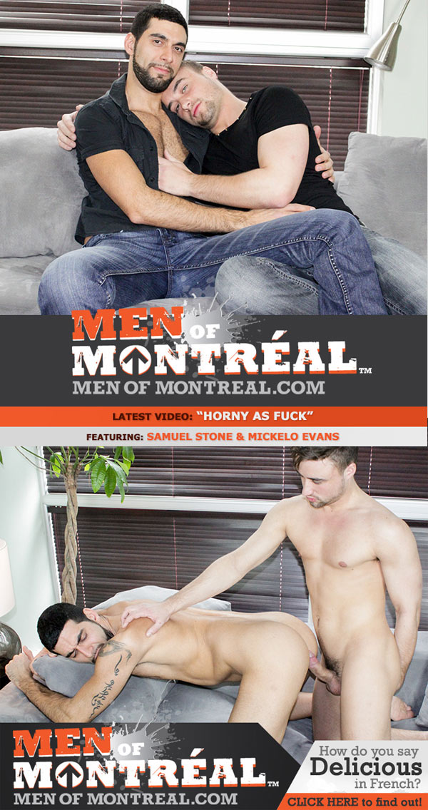 Samuel Stone & Mickelo Evans (Horny As Fuck) (Flip-Flop) at MenOfMontreal