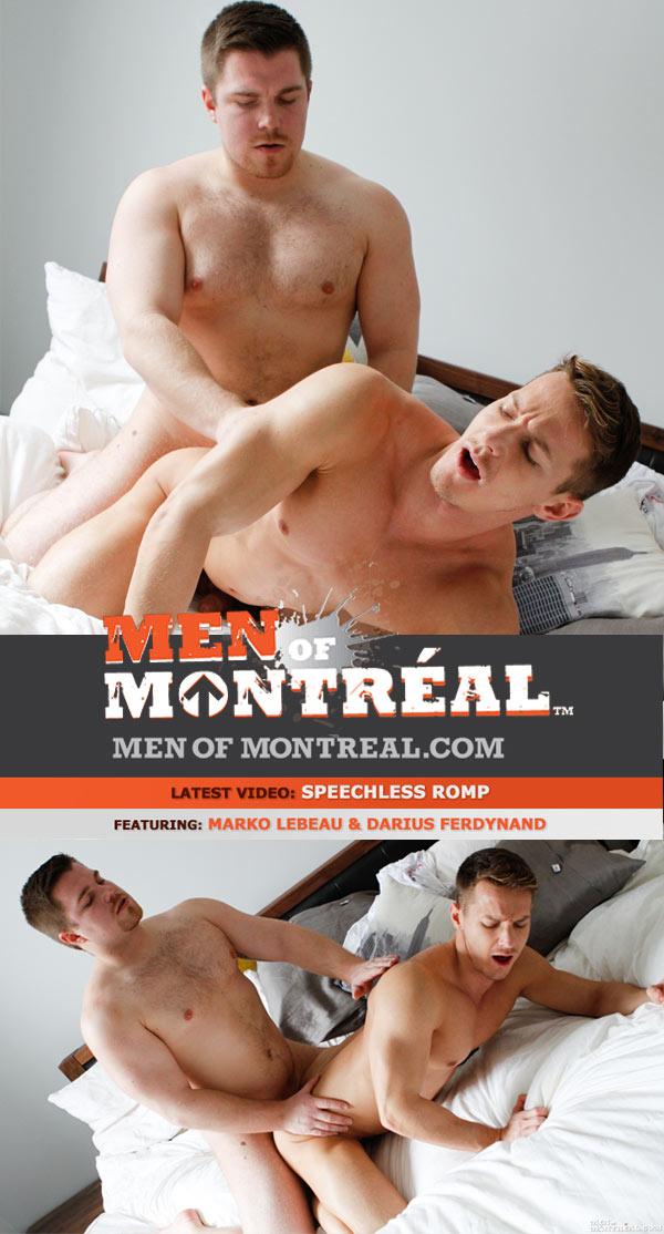 Speechless Romp (Marko Lebeau & Darius Ferdynand) at MenOfMontreal
