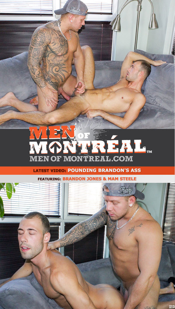 Pounding Brandon's Ass (Brandon Jones & Mam Steele) at MenOfMontreal