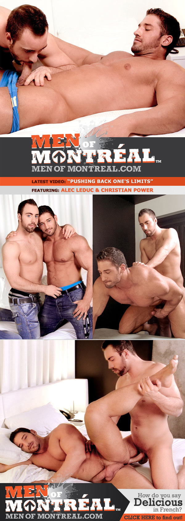 Pushing Back One's Limits (Alec Leduc & Christian Power) at MenOfMontreal