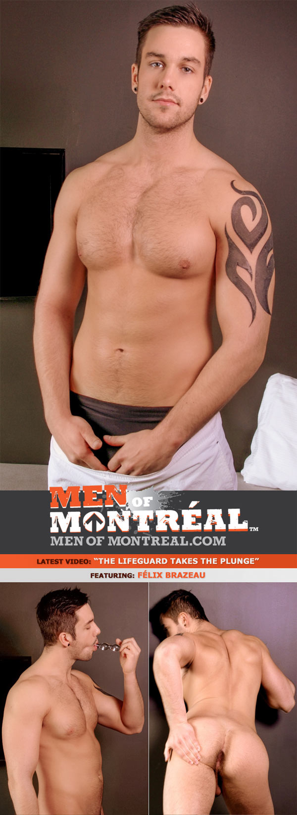 The Lifeguard Takes The Plunge (Félix Brazeau) at MenOfMontreal