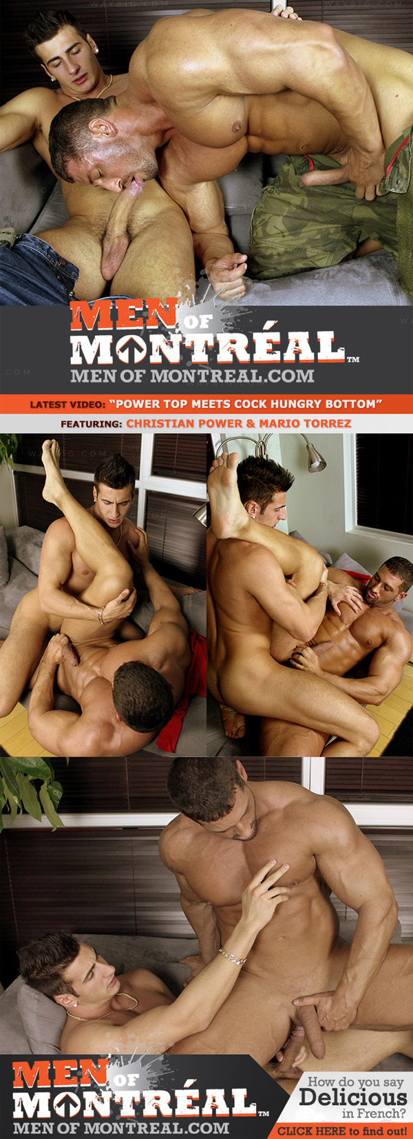 Christian Power & Mario Torrez (Power Top Meets Cock Hungry Bottom) at MenOfMontreal