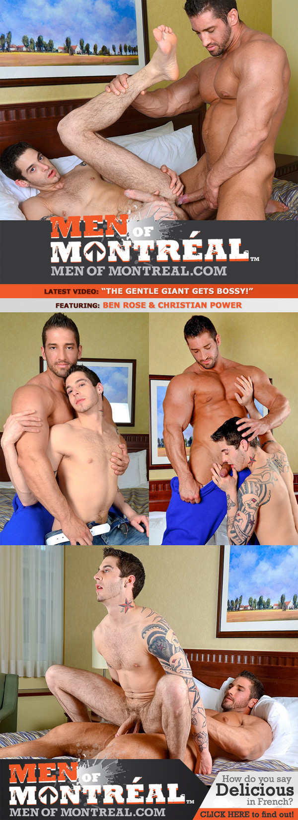 The Gentle Giant Gets Bossy (Ben Rose & Christian Power) at MenOfMontreal