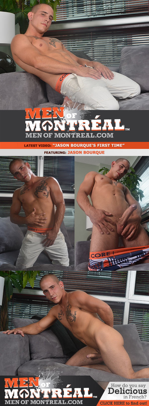Jason Bourque's First Time at MenOfMontreal