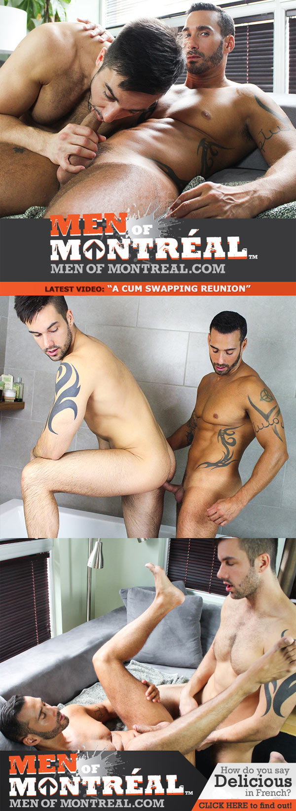 A Cum Swapping Reunion (Alexy Tyler & Felix Brazeau) at MenOfMontreal