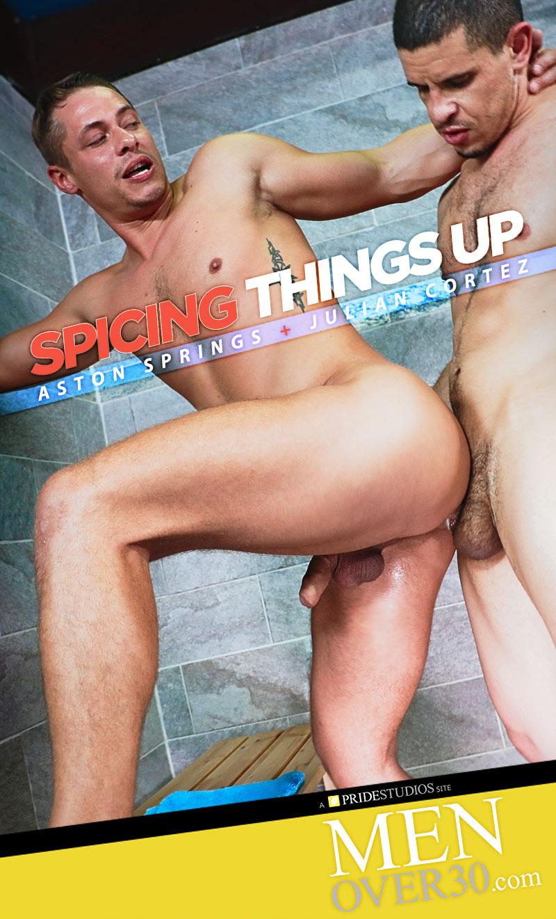 Spicing Things Up (Julian Cortez Fucks Aston Springs) at MenOver30.com