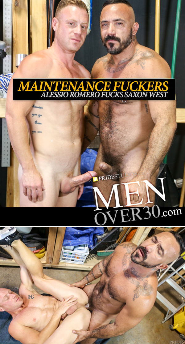 Maintenance Fuckers (Alessio Romero & Saxon West Flip-Fuck) (Part 2) at MenOver30.com