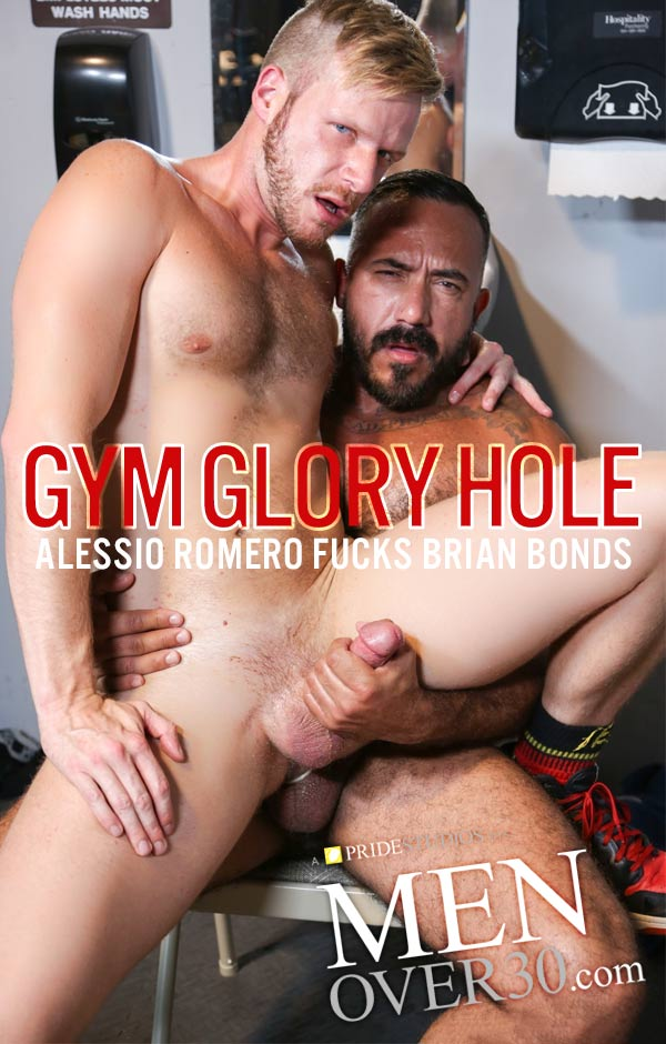 Gym Glory Hole (Alessio Romero Fucks Brian Bonds) at MenOver30.com