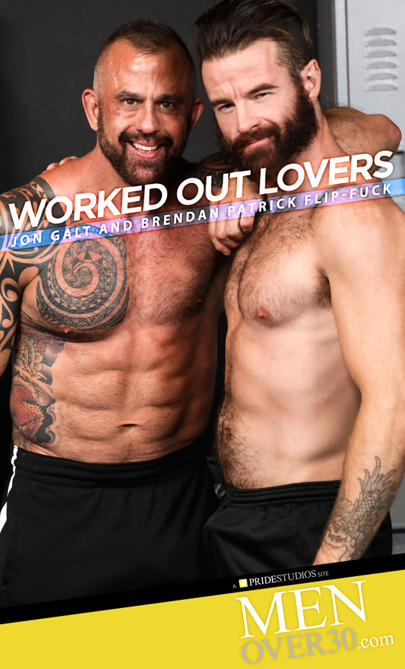 Worked Out Lovers (Jon Galt and Brendan Patrick Flip-Fuck) at MenOver30.com