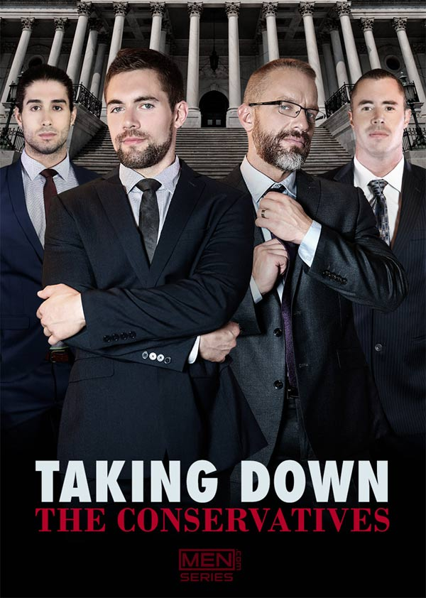 New Men.com Series: Taking Down The Conservatives (starring Diego Sans, Dirk Caber, Eddie Walker and Griffin Barrows) at Men.com