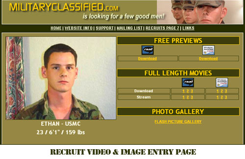 RECRUIT VIDEO & IMAGE ENTRY PAGE